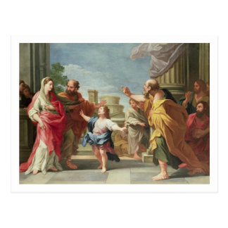 T32126 Christ Preaching in the Temple Post Card