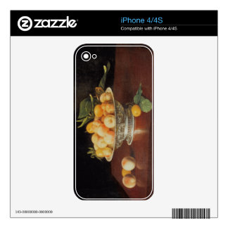 T32176 Still Life of Peaches, c.1700 Skins For iPhone 4S