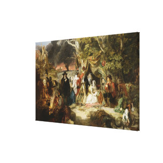 T32191 Highgate Fields During the Great Fire of Lo Gallery Wrap Canvas