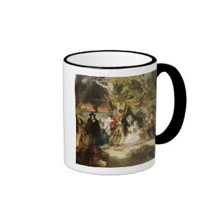 T32191 Highgate Fields During the Great Fire of Lo Ringer Coffee Mug