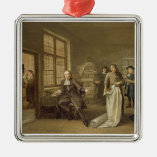 T32334 The Buyer at the Clothes Merchant's, 1690 Metal Ornament