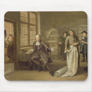 T32334 The Buyer at the Clothes Merchant's, 1690 Mouse Pad