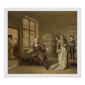 T32334 The Buyer at the Clothes Merchant's, 1690 Poster