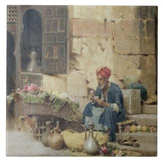 T32410 el vendedor de la flor, 1891 (el panel) azulejo cuadrado grande