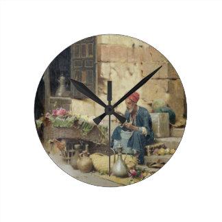 T32410 The Flower Seller, 1891 (panel) Clocks