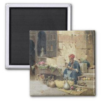 T32410 The Flower Seller, 1891 (panel) Refrigerator Magnet