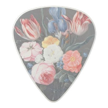 T32511 Still Life Of Flowers In A Vase  1661 (see Acetal Guitar Pick by bridgemanimages at Zazzle