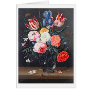 T32511 Still Life of Flowers in a Vase, 1661 (see Card