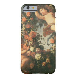 T32714 Two Putti Supporting a Flower Garland Barely There iPhone 6 Case