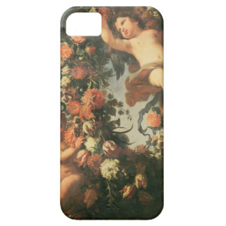 T32714 Two Putti Supporting a Flower Garland iPhone SE/5/5s Case