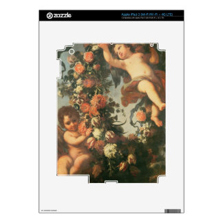 T32714 Two Putti Supporting a Flower Garland Skins For iPad 3