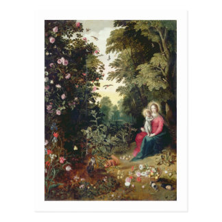 T32789 The Madonna and Child in a Landscape (panel Postcard