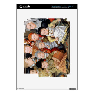 T33337 Portrait of a mother with her eight childre iPad 3 Decal