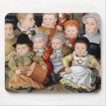 T33337 Portrait of a mother with her eight childre Mouse Pad