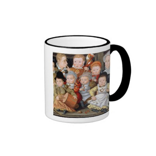 T33337 Portrait of a mother with her eight childre Mugs