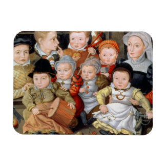 T33337 Portrait of a mother with her eight childre Rectangular Photo Magnet