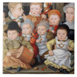 T33337 Portrait of a mother with her eight childre Tiles