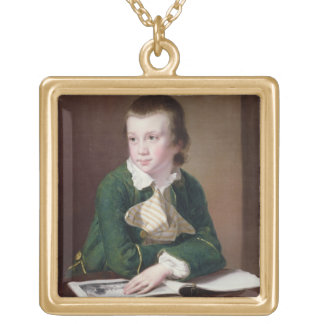 T33403 Portrait of the Revd William Rastall as a B Gold Plated Necklace