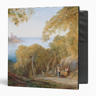 T33412 Landscape with View of Lerici, 1880 3 Ring Binder