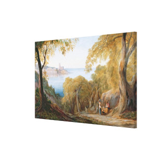 T33412 Landscape with View of Lerici, 1880 Canvas Print