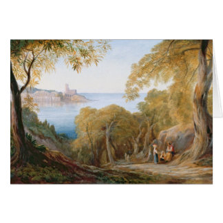 T33412 Landscape with View of Lerici, 1880 Greeting Card