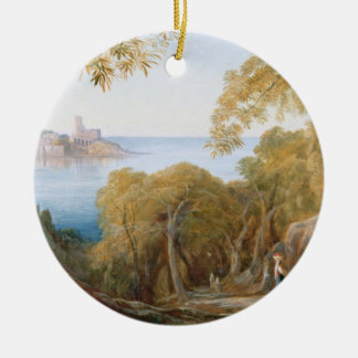 T33412 Landscape with View of Lerici, 1880 Ceramic Ornament