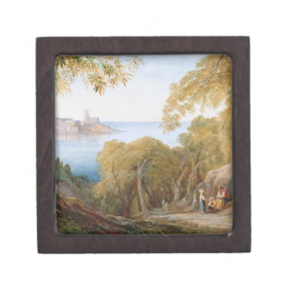 T33412 Landscape with View of Lerici, 1880 Jewelry Box