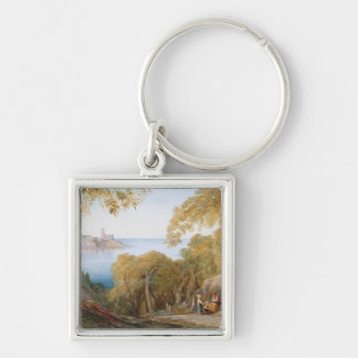 T33412 Landscape with View of Lerici, 1880 Keychain