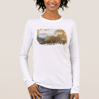 T33412 Landscape with View of Lerici, 1880 Long Sleeve T-Shirt