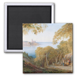 T33412 Landscape with View of Lerici, 1880 Magnet