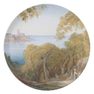T33412 Landscape with View of Lerici, 1880 Plate
