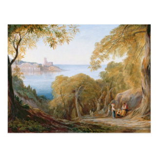 T33412 Landscape with View of Lerici, 1880 Postcard