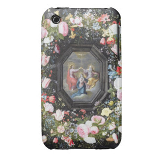T33453 la coronación de la Virgen rodeada cerca Carcasa Para iPhone 3