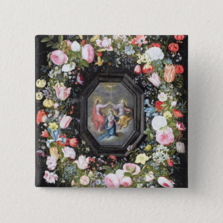 T33453 The Coronation of the Virgin surrounded by Pinback Button