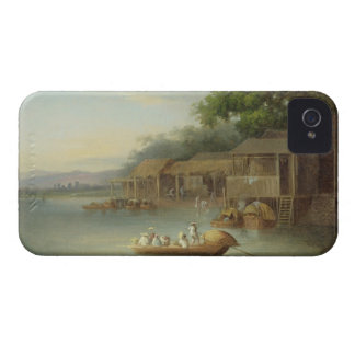 T33508 A Riverside Dwelling, Indo-China (see also iPhone 4 Covers