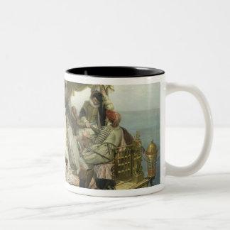 T33653 Mary Stuart's Farewell to France, 1862 Two-Tone Coffee Mug