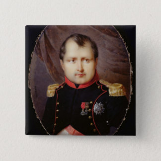 T34002 Portrait Miniature of Napoleon I (1769-1821 Button
