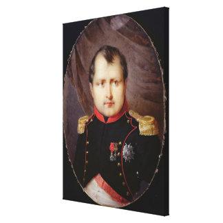 T34002 Portrait Miniature of Napoleon I (1769-1821 Stretched Canvas Prints