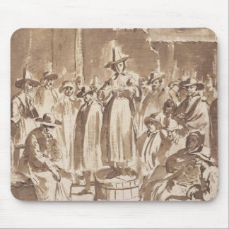 T34029 A Quaker Prayer Meeting (pen & ink on paper Mouse Pad