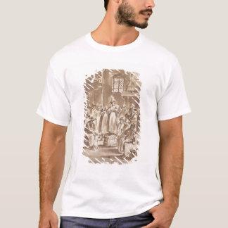 T34029 A Quaker Prayer Meeting (pen & ink on paper T-Shirt