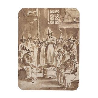 T34029 una reunión de oración del Quaker (pluma y  Imán Foto Rectangular