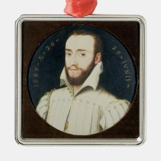 T34055 Portrait of a Bearded Gentleman, Aged 26, 1 Metal Ornament