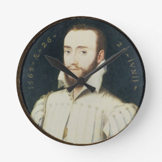 T34055 Portrait of a Bearded Gentleman, Aged 26, 1 Round Clock