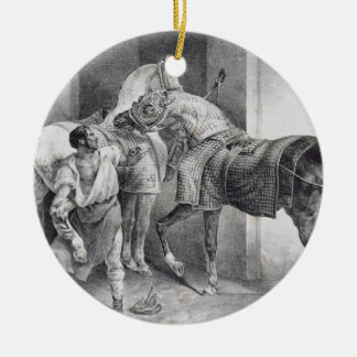 T34894 The English Farrier, 1822 (litho) Ceramic Ornament