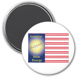 T43a Support American Solar Energy 3 Inch Round Magnet