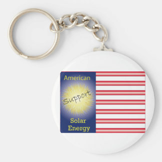T43a Support American Solar Energy Basic Round Button Keychain