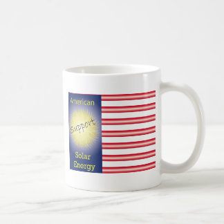 T43a Support American Solar Energy Classic White Coffee Mug