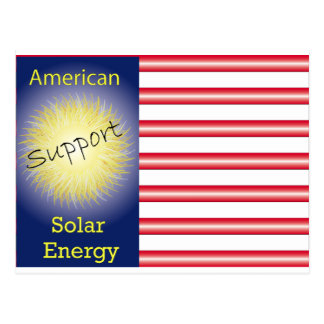 T43a Support American Solar Energy Postcard