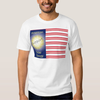 T43a Support American Solar Energy Tee Shirt