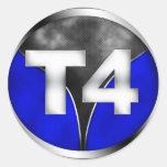 T4 PEGATINA REDONDA
